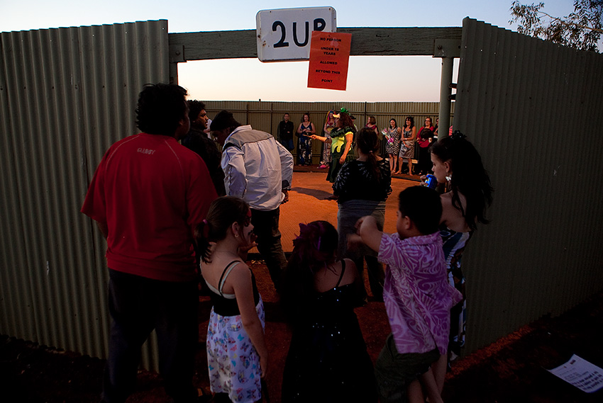 Games of 2UP are played during Laverton Race Day in Laverton, Western Australia.