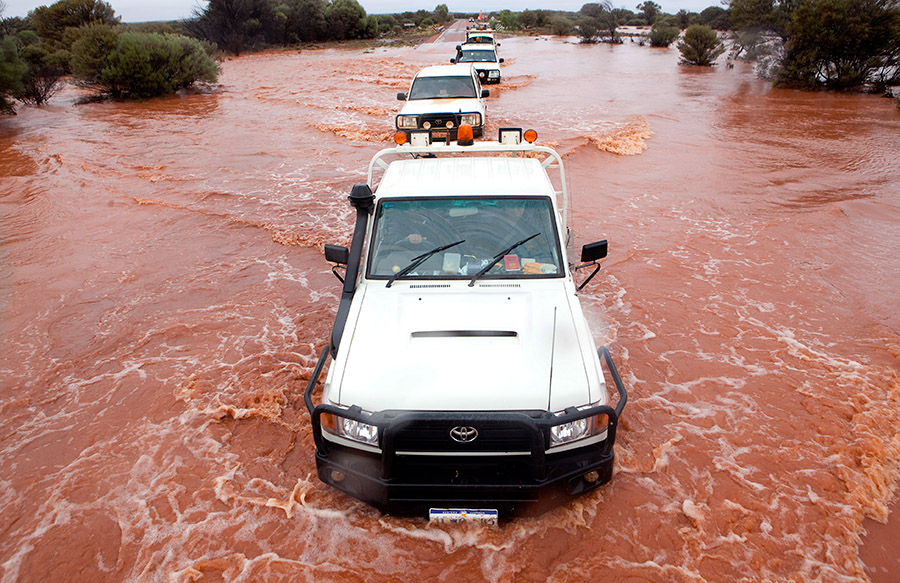 Flooding in Laverton, Western Australia
