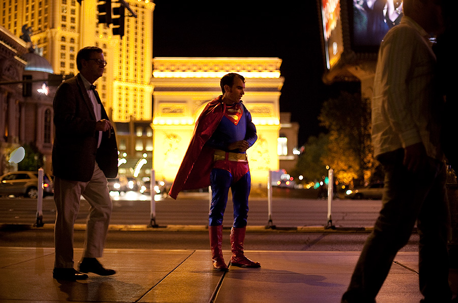 Superman on the Las Vegas Strip