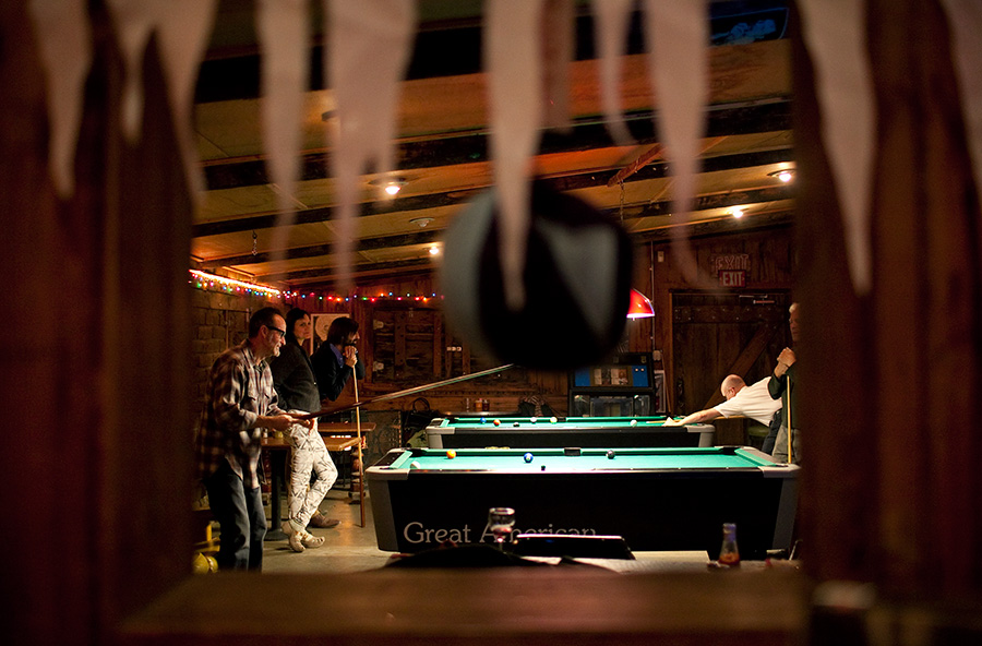 Pool tables at Pappy and Harriets bar in Yucca Valley California.