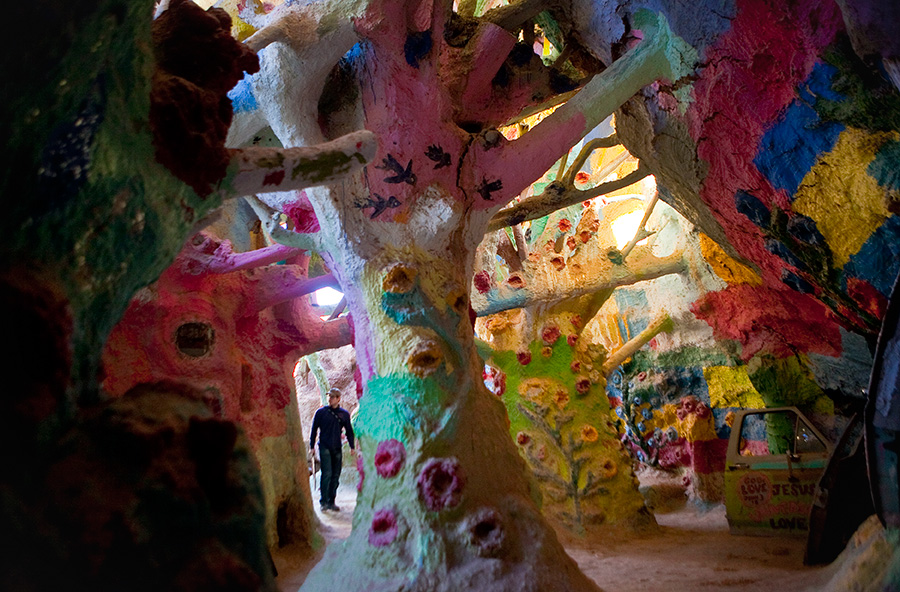 Interior of Salvation Mountain near Slab City California
