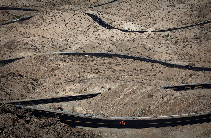 Winding road highway 74 above Palm Desert California