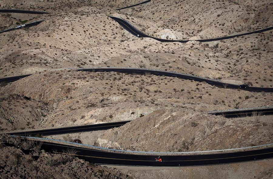 Winding road highway 74 above Palm Desert California